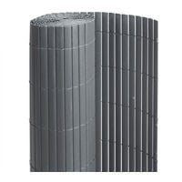 Canisse PVC double face Anthracite 18 m - 6 rouleaux de 3 x 1,20 m - Jardideco