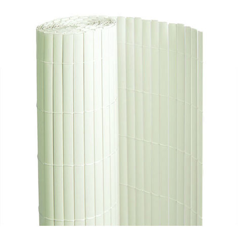 Canisse PVC double face Blanc 18 m - 6 rouleaux de 3 x 1,50 m - Jardideco