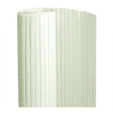 Canisse PVC double face Blanc 6 m - 2 rouleaux de 3 x 1,50 m - Jardideco