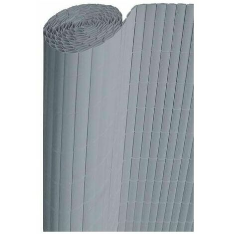 Canisse pvc gris perle double face 16mm