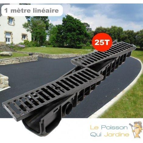 Caniveau 1 Mètre 25 Tonnes Pour Drainage D'Eaux Usées Ou De Pluie