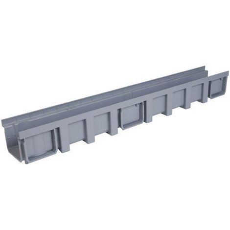 Caniveau 1m polypropylene largeur 130 gris