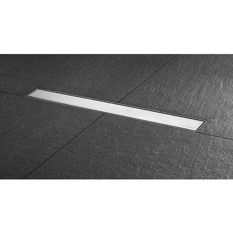 Caniveau complet pour douche à l'italienne BASIC DRAIN STEPS - Longueur 90 cm (grille comprise)