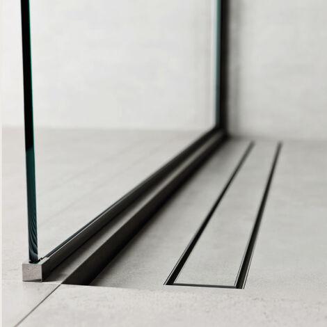 Caniveau de douche 60x7 cm. Profil de linéaire - Ensemble complet avec pattes et grille. (code 500.200.060)