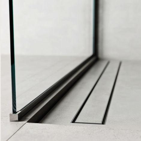 Caniveau de douche 70x7 cm. Profil de linéaire - Ensemble complet avec pattes et grille. (code 500.200.070)
