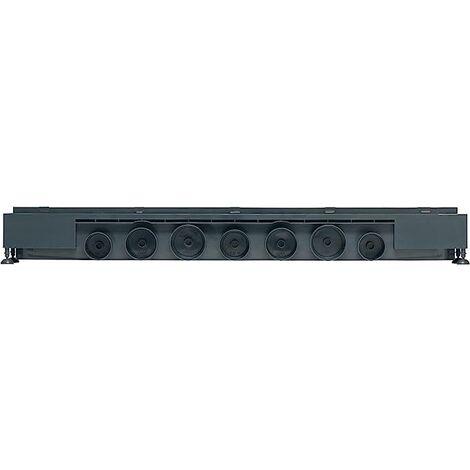 Caniveau de douche à l'italienne grille trait - Express'eau L.800 mm grille trait en inox brossé - Wirquin - 30718579