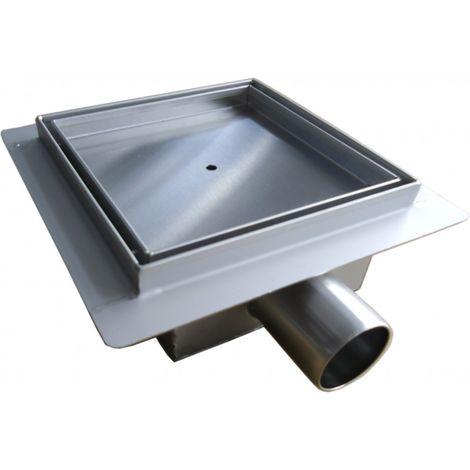 Caniveau de douche en acier inoxydable S8 pour douche prêt à carreler - dimension sélectionnable