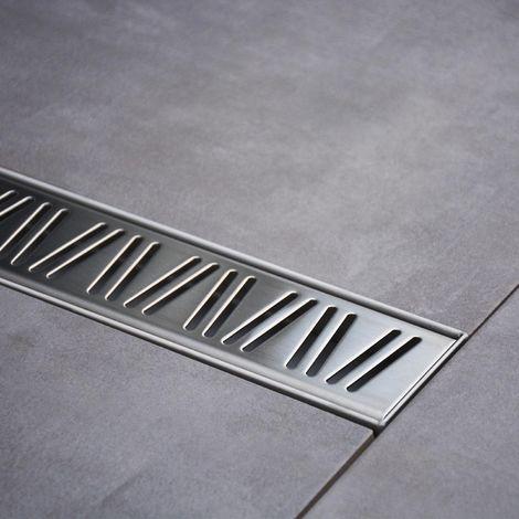 Caniveau de douche italienne Inox - 80 cm - argent
