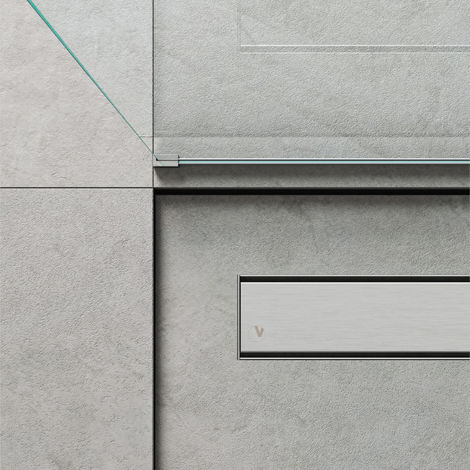 Caniveau de douche linéaire 110 x 7 cm. Acier inoxydable brossé (code 500.100.110)