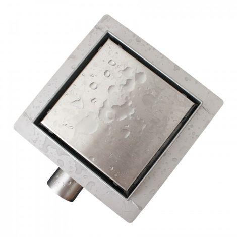 Caniveau de douche T02 en acier inoxydable pour douche - drain de douche inclus - largeur sélectionnable