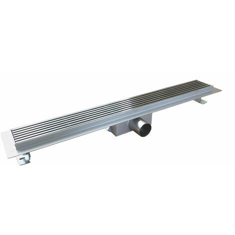 Caniveau de sol de qualité supérieure H01 pour douche avec grille amovible - Longueur sélectionnable