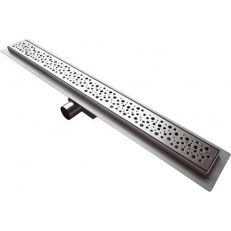 Caniveau de sol grand débit pour douche plain pied en acier inoxydable G013 - longueur sélectionnable
