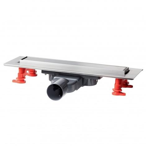 Caniveau douche VENISIO SLIM + grille inox brossé réversible - 300mm - Wirquin PRO 30721025