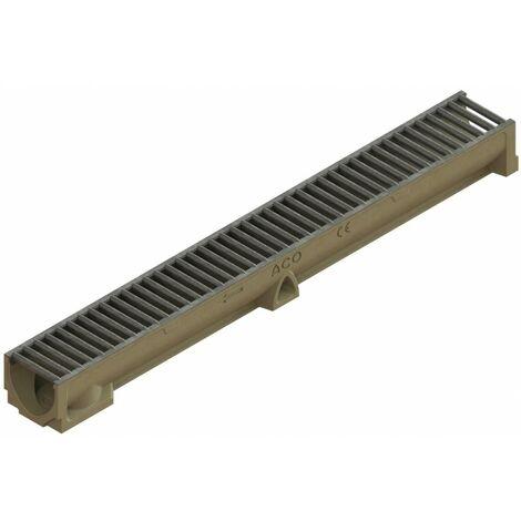 Caniveau Self 100 - Hauteur 95 mm - Largeur 98 mm - Différentes grilles disponibles - Aco