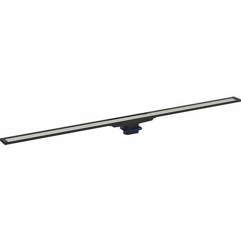 Canivelle de douche Cleanline20 300-900mm, cadre inox revetement noir