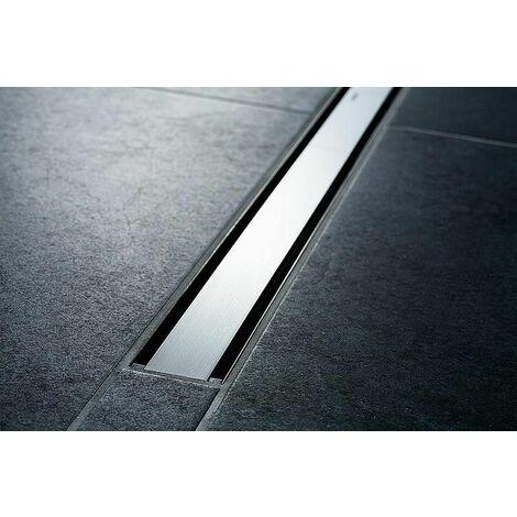 Canivelle de douche CleanLine60 300-900mm, cadre inox revetement noir
