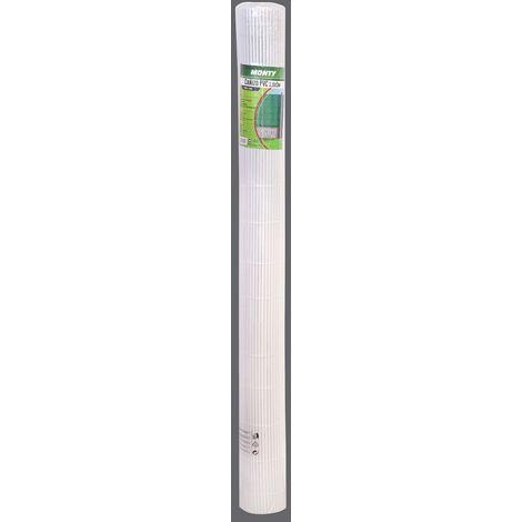 Cañizo artificial de PVC blanco de doble cara para ocultación de 3x1,5 metros