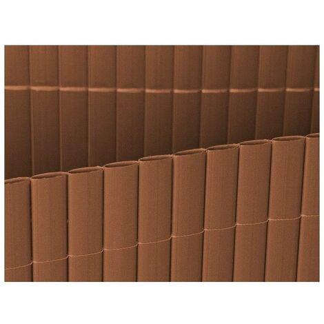 CAÑIZO DE PVC CHOCOLATE DOBLE CARA 1350 GRAMOS 2X3 METROS MODELO 2021