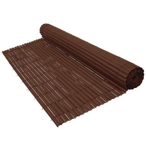 Cañizo de PVC Doble Cara 1300gr/m2 - Marrón Chocolate - 1,5x5m - 1,5x5m