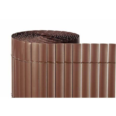 Cañizo de PVC Doble Cara 1300gr/m2 - Marron Teka - 1,5x5m - 1,5x5m