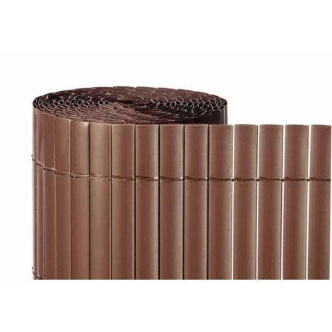 Cañizo de PVC Doble Cara 1300gr/m2 - Marron Teka - 1,5x5m - https://jardin202.com/ocultacion/cerramientos/cerramientos-artificiales/pvc-doble-cara/pvc-d-c-marron-teka-1300.html#/658-medida-15x5m