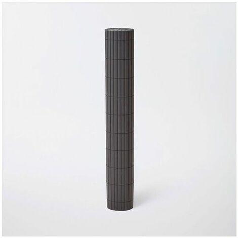 CAÑIZO DE PVC DOBLE CARA GRIS OSCURO 1 X 5 m (1640 GR)