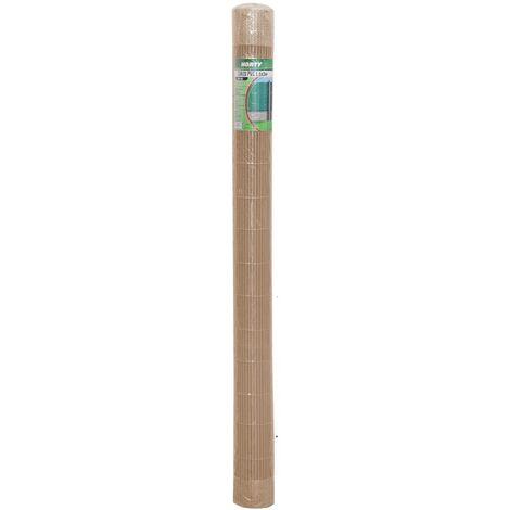 Cañizo ocultación artificial de PVC marrón de 200x300 cm