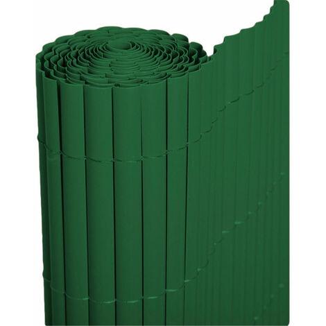 Cañizo PVC de media caña (Verde). Varias medidas - 1,5x3 metros -
