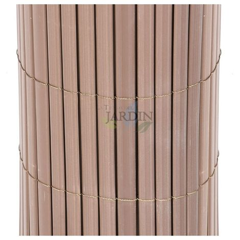 Cañizo PVC doble cara 1x3 metros marrón chocolate