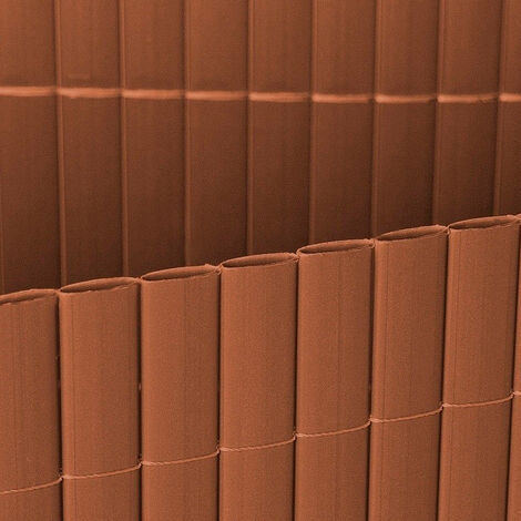 Cañizo PVC doble cara marrón 12mm