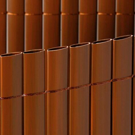 Cañizo PVC doble marrón 7mm