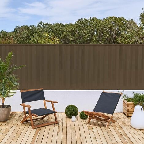 CAÑIZO PVC E-PLUS SIMPLE CARA 20 MM MARRON Marron 2X3 M