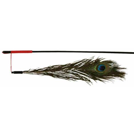Canne à pêche avec plume, en plastique - 47 cm
