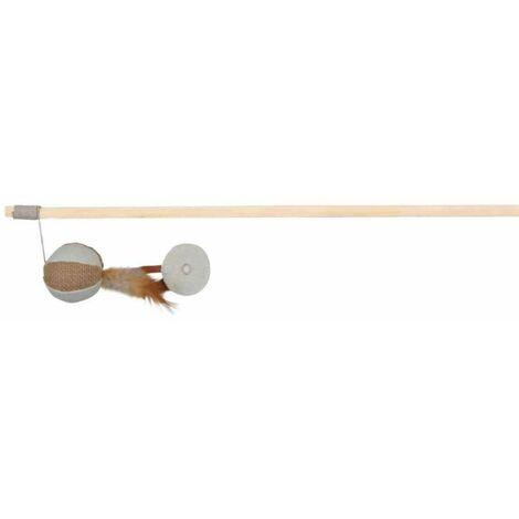 Canne à pêche souris avec plumes - 45804