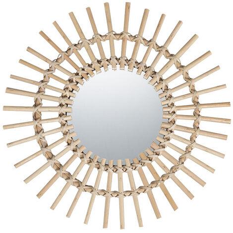 Canne Constitue Miroir Dressing Chambre Salle De Bain Tentures Murales Miroirs Decoration Porche Miroir Rond