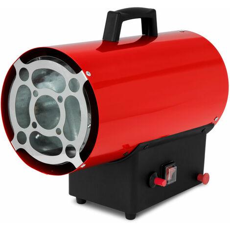 Canon à Air chaud gaz (15kW puissance calorifique, tuyau à gaz et régulateur de pression pour les bouteilles de propane et de gaz butane, sécurité de brûleur et coupe-flammes)