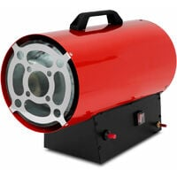 Canon à Air chaud gaz (30kW puissance calorifique, tuyau à gaz et régulateur de pression pour les bouteilles de propane et de gaz butane, sécurité de brûleur et coupe-flammes)