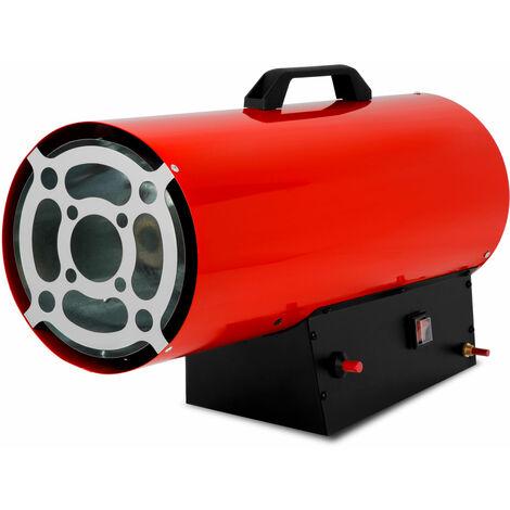 Canon à Air chaud gaz (50kW puissance calorifique, tuyau à gaz et régulateur de pression pour les bouteilles de propane et de gaz butane, sécurité de brûleur et coupe-flammes)