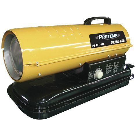 Canon à chaleur au fioul à combustion directe 385 m³ - 20,5 kW Protemp PT70KFA