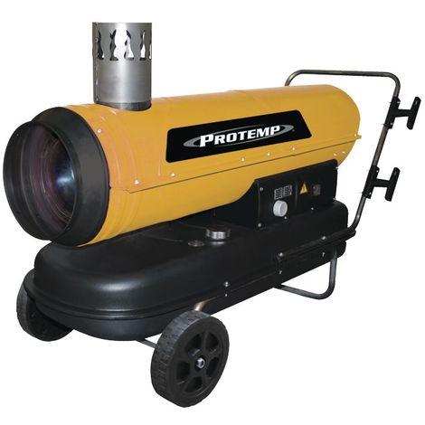 Canon à chaleur au fioul avec évacuation du gaz 950 m³ - 50 kW Protemp PT170IDF