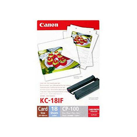 Canon Blanc 18 pièces KC18IF pour imprimante à sublimation (7741A001)