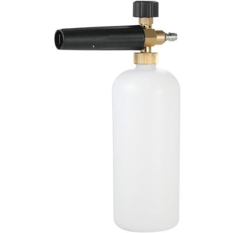 """Canon de espuma Botella de 1 litro Lanza de espuma para nieve, con conector rapido de 1/4 """""""