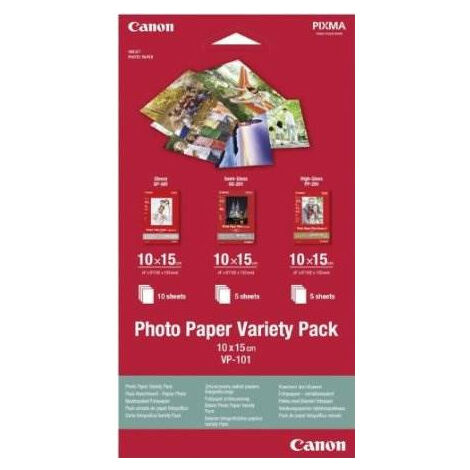 Canon Photo Paper Variety Pack (0775B078)