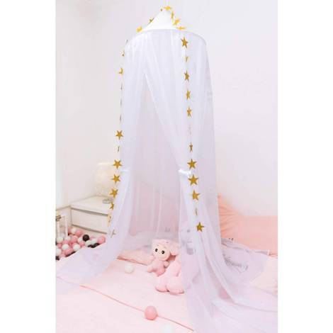 Canopy canopy mosquito net made of voile star Deco 230 cm white