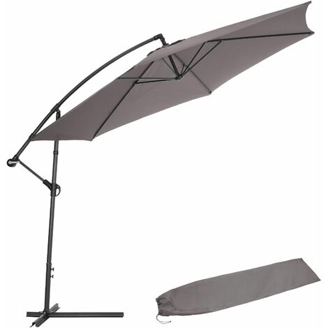"main image of ""Cantilever Parasol 350cm with protective sleeve - garden parasol, overhanging parasol, banana parasol"""