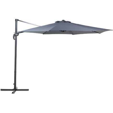 Cantilever Patio Umbrella - 10 ft / 3 m Diameter - SAVONA Dark Grey