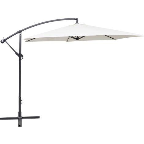 Cantilever Umbrella 3 m Sand White