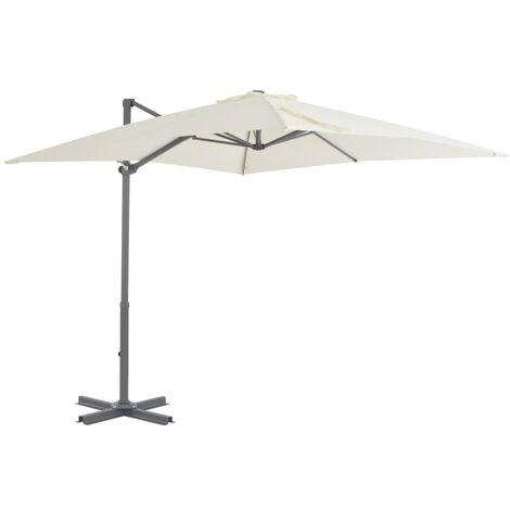Cantilever Umbrella with Aluminium Pole 250x250 cm Sand
