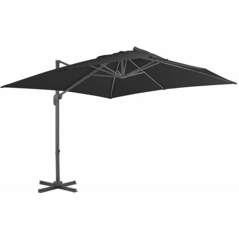 Cantilever Umbrella with Aluminium Pole 300x300 cm Anthracite