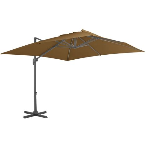 Cantilever Umbrella with Aluminium Pole 300x300 cm Taupe